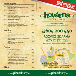 Skládačka A4 201412 - KOVÁRNA Pizza / Gril • Doksy