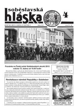 Duben 2013 - Město Soběslav