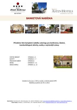 BANKETOVÁ NABÍDKA - Hotel Bellevue Karlov