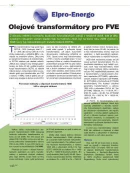 Olejové transformátory pro FVE (Elektrotechnika - Elpro