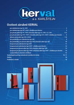 Katalog ocelové zárubně KERVAL