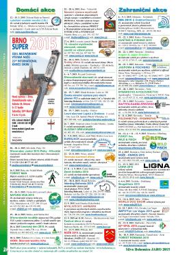 Přehled akcí na JARO 2015