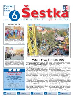 Volby v Praze 6 vyhrála ODS