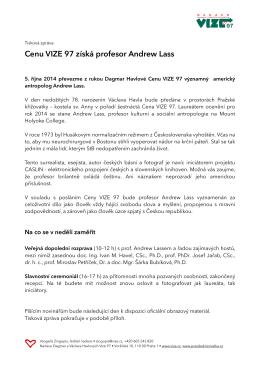 Tiskova zprava Cena VIZE97 2014 II.