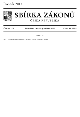 Vyhláška MFČR č. 441/2013 Sb.