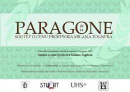 Soutěž o cenu profesora Milana Tognera