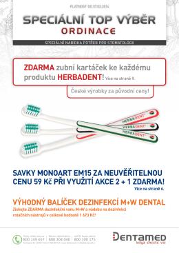 zdarma zubní kartáček ke každému