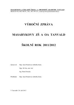 Výroční zpráva (PDF) - Masarykova základní škola a Obchodní