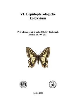 Zborník na kolokvium - Mapování a ochrana motýlů České republiky