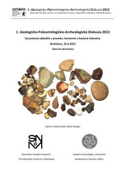 1. Geologicko-Paleontologicko-Archeologická Diskusia