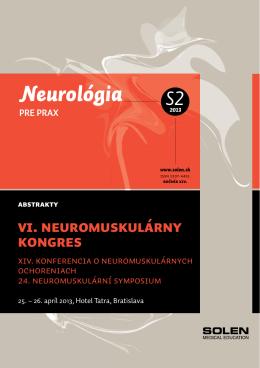 VI. Neuromuskulárny kongres s medzinárodnou účasťou