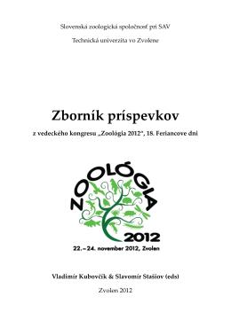 zborník Zoológia 2012 - Conference system