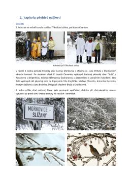 2. kapitola: přehled událostí - Morkovice