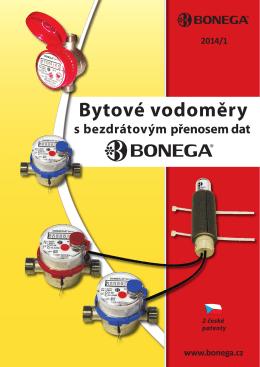 Brožura k bezdrátovým vodoměrům BONEGA v PDF