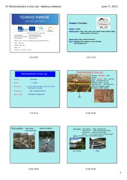 01 Rozmnožování a chov ryb - Základní škola Bojanov, okres Chrudim