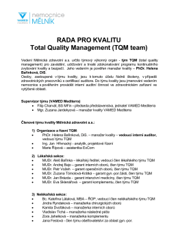 RADA PRO KVALITU Total Quality Management (TQM team)
