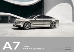 A7 Ceník Nové A7 Sportback