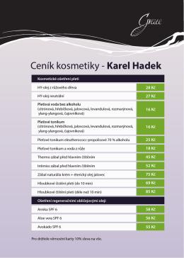 Ceník kosmetiky - Karel Hadek - well