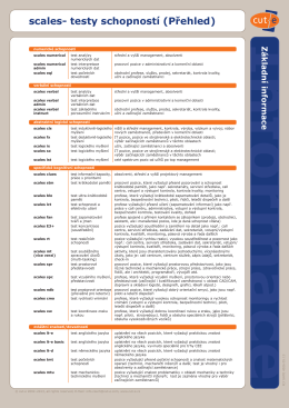 Přehled všech diagnostických testů cut-e
