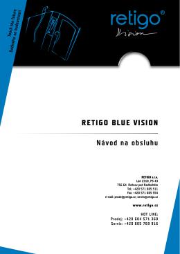 Návod ke konvektomatu Retigo Blue VISION