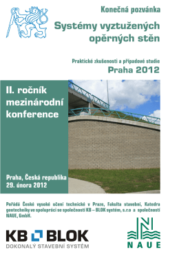 Pozvánka na II. mezinárodní konferenci Systémy vyztužených