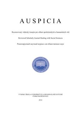 Recenzovaný časopis pro otázky společenských věd