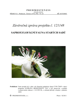 saproxylofagove-sadu_2011 - Občanské sdružení Predmostenzis