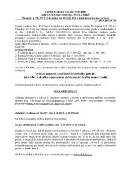 Dražební vyhláška - Lhota pod Libčany