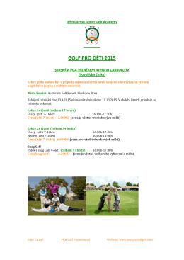 GOLF PRO DĚTI-1 - John Carroll Golf Academy