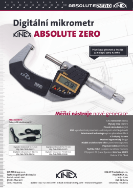 Digitální mikrometr ABSOLUTE ZERO