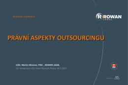 Problematika právních aspektů souvisejících s outsourcingem
