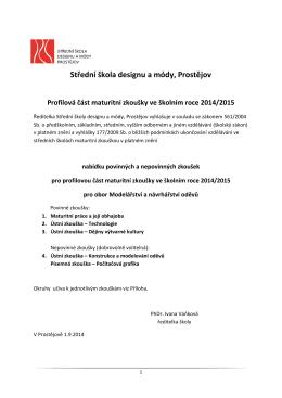 Modelářství a návrhářství oděvů. - Střední škola designu a módy