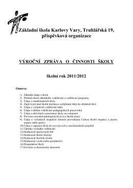 Výroční zpráva 11/12 - Základní škola Karlovy Vary, Truhlářská 19, po