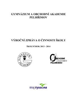 gymnázium a obchodní akademie pelhřimov výroční zpráva o