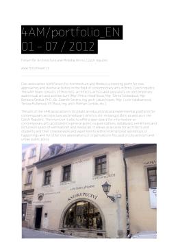 4AM/rtfolio_EN 01 – 07 / 2012