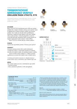 ESBE Termostatické ventily VTA 370 a 570