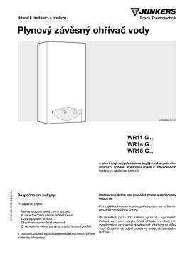Plynový závěsný ohřívač vody