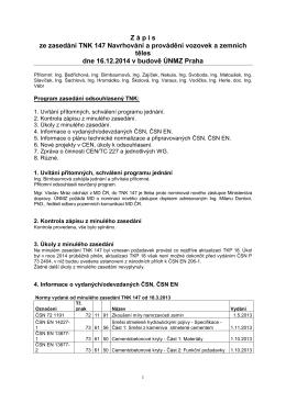Zápis z jednání TNK 147 - prosinec 2014