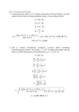 B25 – kvantová mechanika
