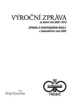 VÝROČNÍ ZPRÁVA - Gymnázium Třebíč