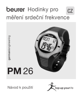 návod pro BEURER PM 26