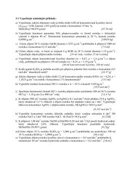 3.1 Vypočítejte následující příklady: a) Vypočítejte, jakým
