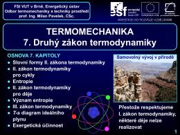 Druhý zákon termodynamiky - Odbor termomechaniky a techniky