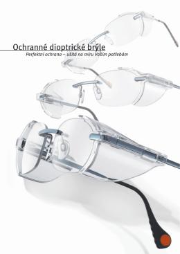 ochranné dioptrické brýle bez rámečku