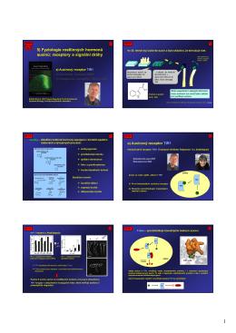 5) Fyziologie rostlinných hormonů auxinů: receptory a signální dráhy