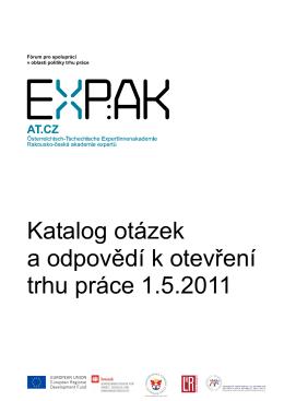 Katalog otázek a odpovědí k otevření trhu práce 1.5.2011 - expak