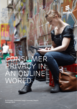 Ericsson Privacy Report