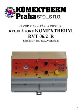 Regulátor KOMEXTHERM RVT 06.2 R