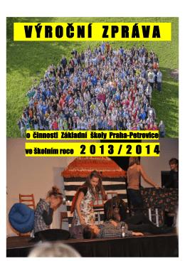 Výroční zpráva 2013/2014 - ZŠ Praha