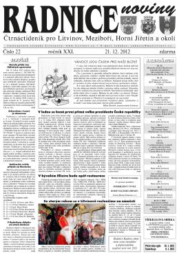 Radnice č. 22 ze dne 21.12.2012